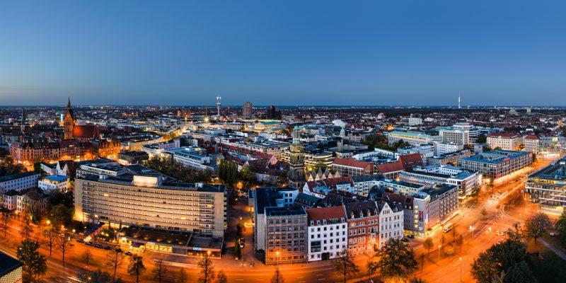 Panorama Hannover zur blauen Stunde